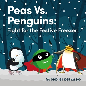 Peas VS. Penguins: Fight for the Festive Freezer!