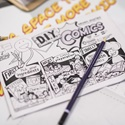 Use the exhibition as inspiration to create your own stories, settings and characters with our D.I.Y comics!